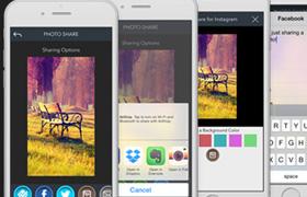 Plnatilla de App para Desarrollo de Aplicaciones de Fotografía